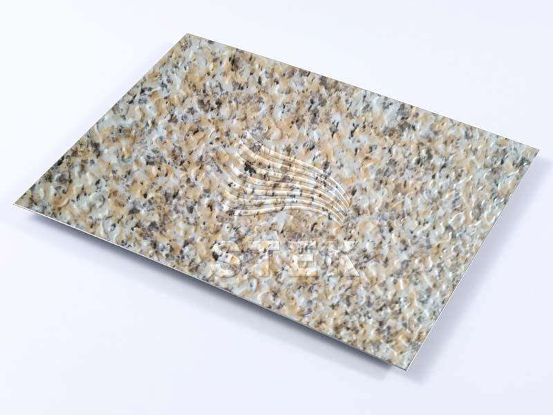 石纹彩涂压花铝卷